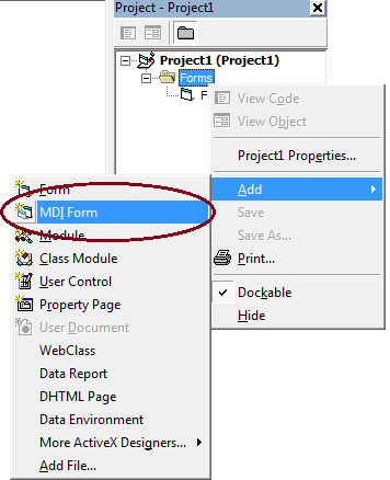 Create MDI Form