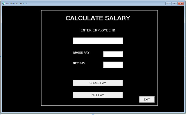 Form Salary - Employee Record Management