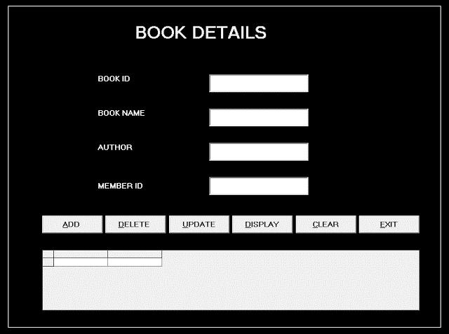 Form Book Details - Library Management System