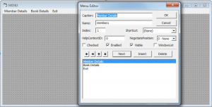 MDI Form with Menu - Library Management System
