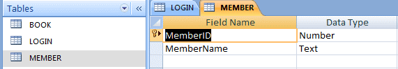 Member Table - Library Management System