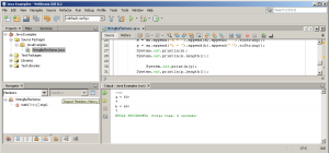 Output: Java Program Demonstrating usage of String-buffer Class and String-Builder Class