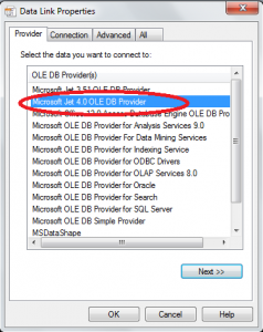 Select the Provider