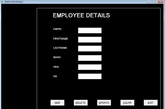 Form Employee Details