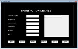 Form Transaction - Bank Management System