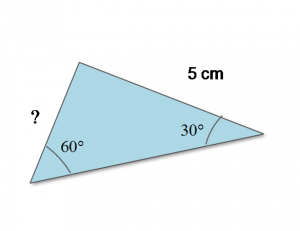 Figure 3: Two Angles and 1 Side for Law of Sine Problems