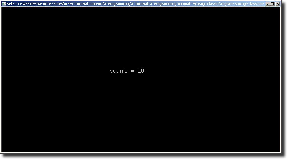 Output 2 - Register Storage Class