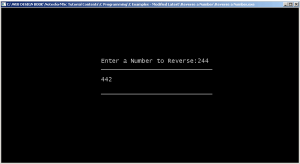 Output-Reverse a number using Recursion