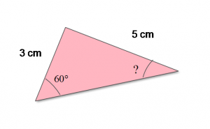 Figure2: Law of sine for two sides and 1 angle