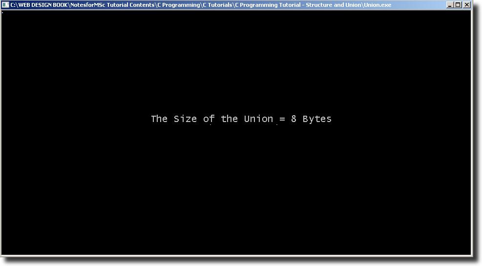 Output - Union Size