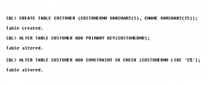 Create Table Customer - Customer-Order Processing Database