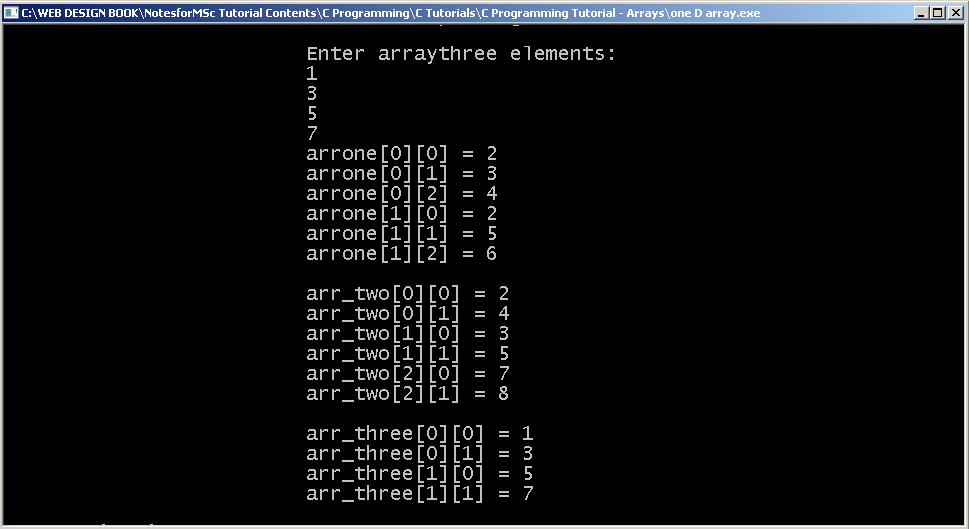 how to return a char array in c