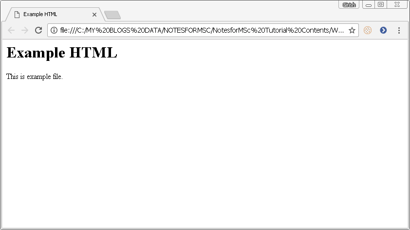 Output - Example HTML