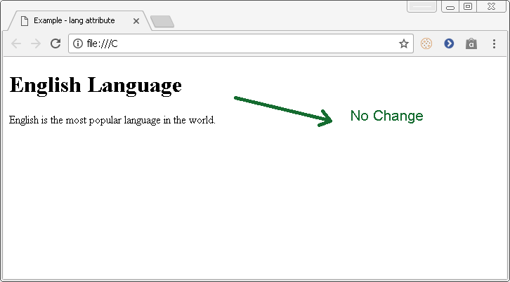 """Output - HTML Attribute - """"lang"""""""