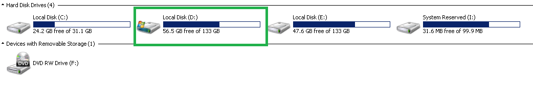 Open the D:/ Drive or Any Drive that has Windows Folder