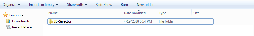 ID Selector Folder