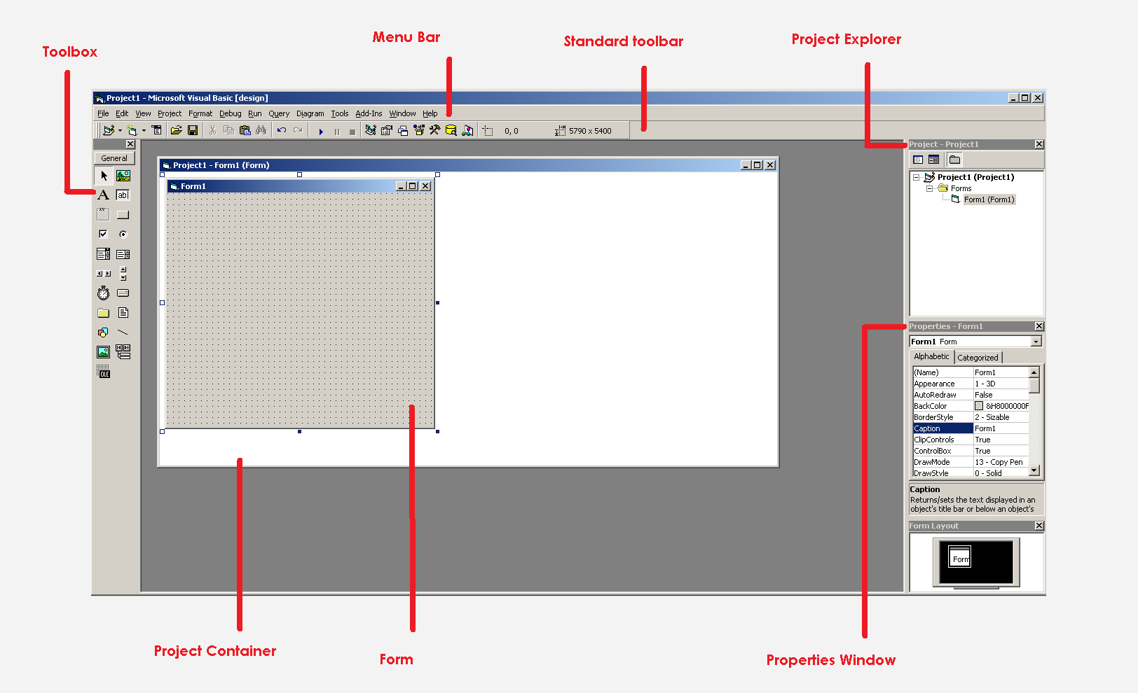 Visual Basic 6 Design Interface