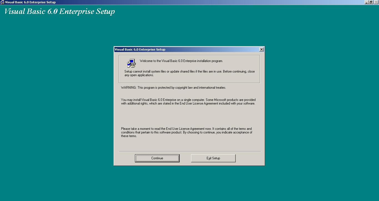 Visual Basic 6.0 Enterprise Setup