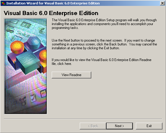 Visual Basic 6.0 Installation Wizard