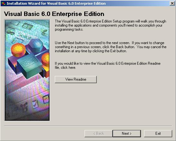 Visual Basic 6.0 Installation Wizard