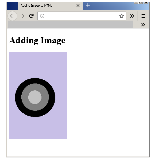 Output-Adding Image to HTML
