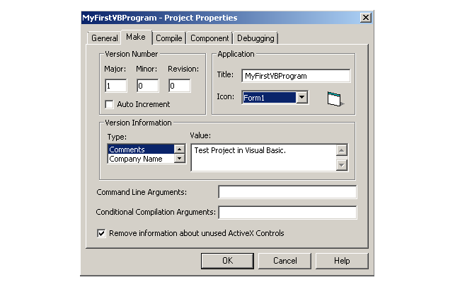 Project version and version information