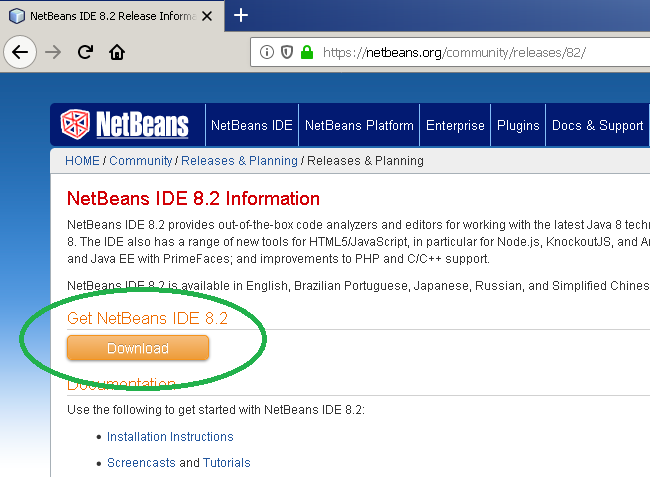 Download NetBeans