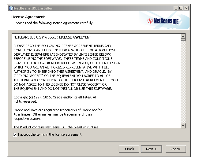 Licence Agreement netbeans