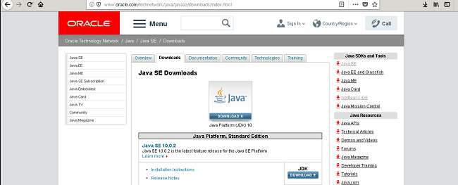 Oracle Java Download Page