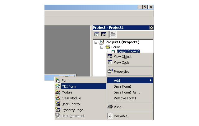 Create an MDI Form
