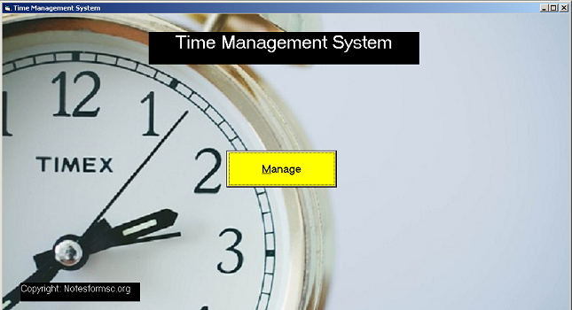 Form Time Management System