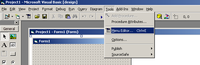 Open Menu Editor under Tools